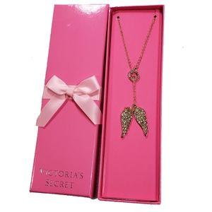 Victorias Secret Necklace Angel Wing NIB Limted